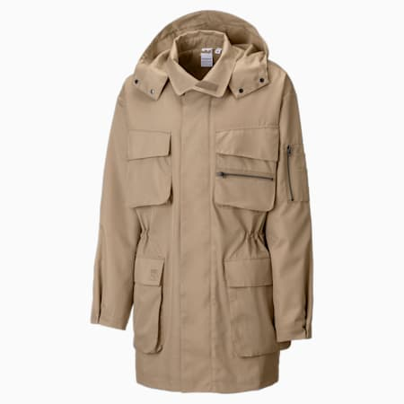 PUMA x MAISON KITSUNÉ Men's Military Jacket, Travertine, small-GBR
