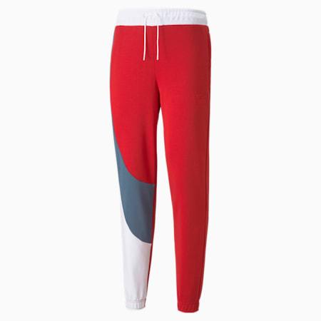 Pantalones de básquetbol Flare para hombre, Urban Red, pequeño