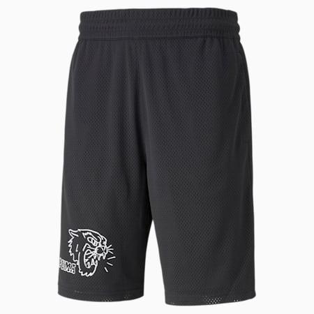 Shorts de básquetbol de malla Practice para hombre, Puma Black, pequeño