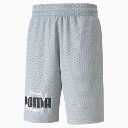 Shorts de básquetbol de malla Practice para hombre, Quarry, pequeño