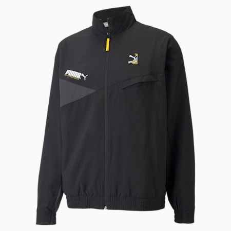 PUMA International Winterised Woven Men's Jacket, Puma Black, small-GBR