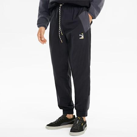 푸마 인터네셔널 Winterised 우븐 팬츠/Puma INTL Winter WV Pants, Puma Black, small-KOR