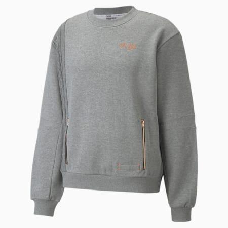 Scorecard Herren Basketball-Sweatshirt mit Rundhalsausschnitt, Medium Gray Heather, small