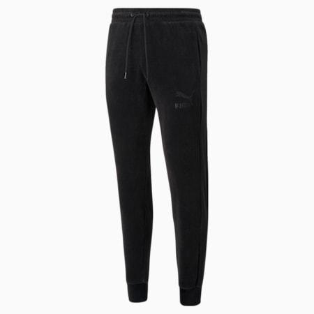 Iconic T7 Velour Men's Track Pants, Puma Black, small-GBR