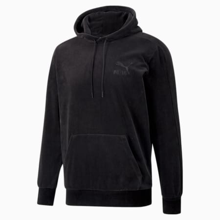 Iconic T7 Velour Men's Hoodie, Puma Black, small-GBR