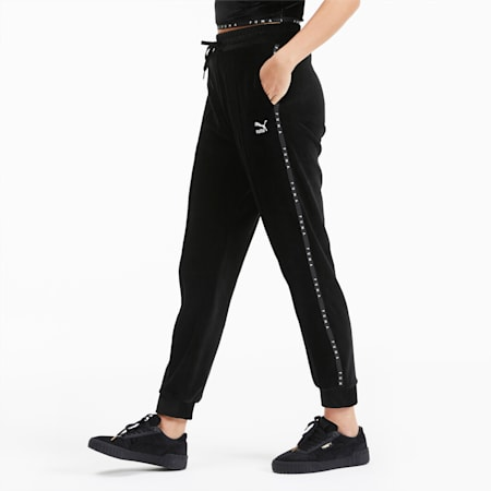 Damen Hose aus Velours, Puma Black, small