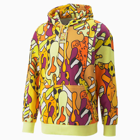 PUMA x BRITTO AOP Relaxed Fit Unisex Hoodie, Puma Black-AOP, small-IND