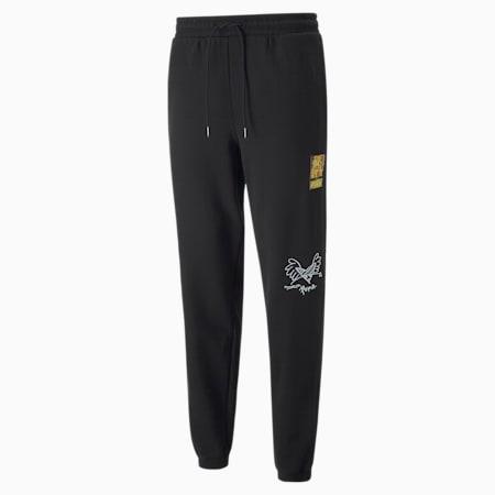 PUMA x BRITTO Knitted Unisex Sweat Pants, Puma Black, small-IND