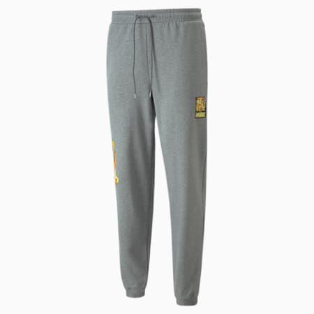PUMA x BRITTO Knitted Unisex Sweat Pants, Medium Gray Heather, small-IND