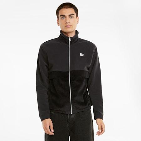 Downtown Corduroy Mix Men's Jacket, Puma Black, small
