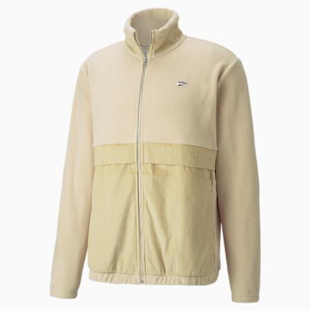 Downtown Corduroy Mix Men's Jacket, Pebble, small-GBR