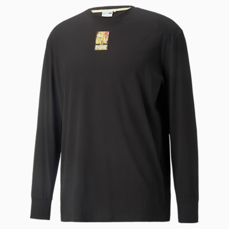PUMA x BRITTO T-shirt met lange mouwen, Puma Black, small