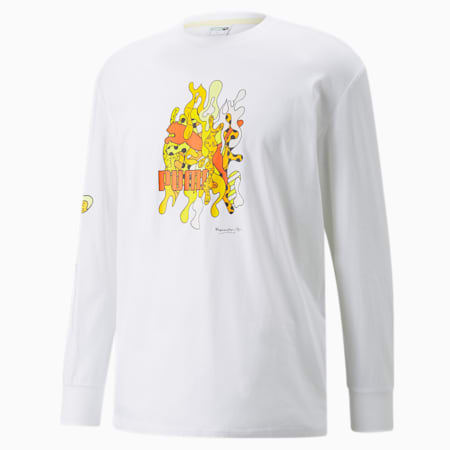PUMA x BRITTO Long Sleeves Relaxed Fit Unisex T-Shirt, Puma White, small-IND