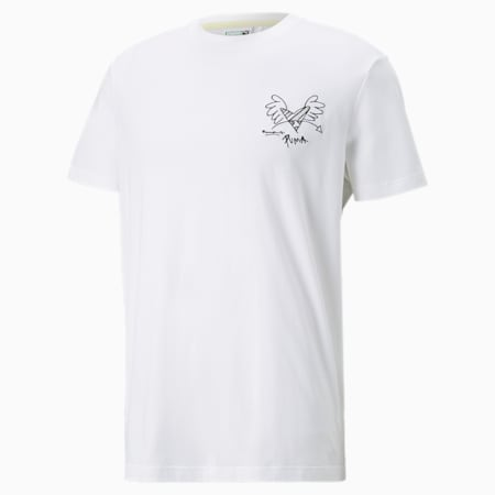 T-shirt PUMA x BRITTO, Blanc Puma, petit