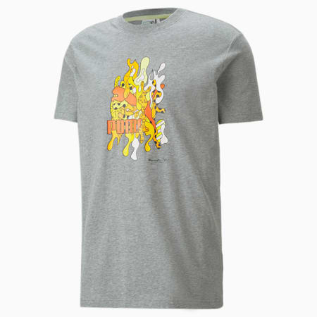 PUMA x BRITTO Relaxed Fit Unisex T-Shirt, Medium Gray Heather, small-IND