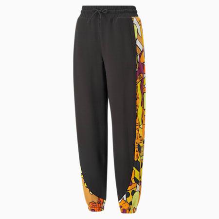Pantalones deportivos con estampa PUMA x BRITTO para mujer, Puma Black, pequeño