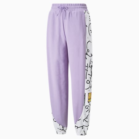 PUMA x BRITTO Relaxed Fit Women's Sweat Pants, Viola, small-IND