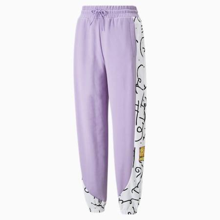 Pantalones deportivos con estampa PUMA x BRITTO para mujer, Viola, pequeño