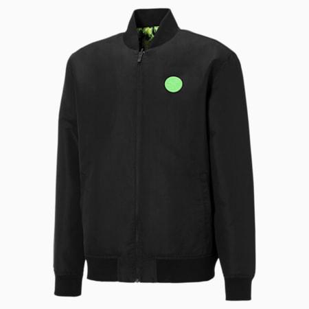 PUMA x SANTA CRUZ Varsity Jacket, Puma Black, small-GBR