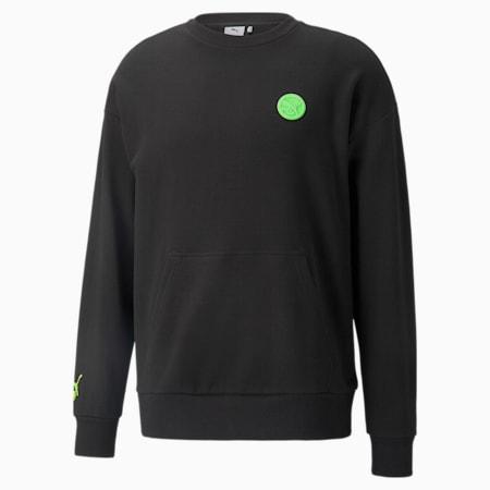 PUMA x SANTA CRUZ Crew Sweater, Puma Black, small-GBR