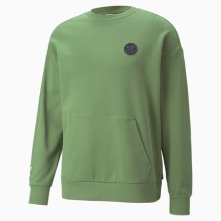 PUMA x SANTA CRUZ Sweatshirt mit Rundhalsausschnitt, Dill, small