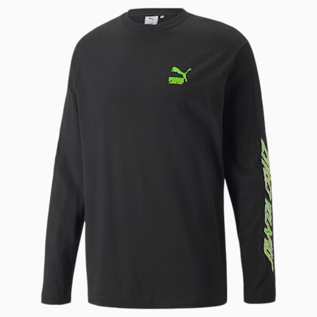 PUMA x SANTA CRUZ Langarm-T-Shirt, Puma Black, small