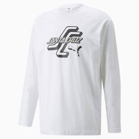 T-shirt à manches longues PUMA x SANTA CRUZ, Blanc Puma, petit