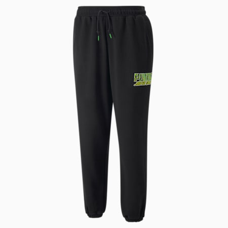 PUMA x SANTA CRUZ Sweatpants, Puma Black, small-GBR