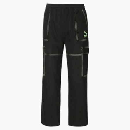 PUMA x SANTA CRUZ Women's Cargo Pants, Puma Black, small-GBR