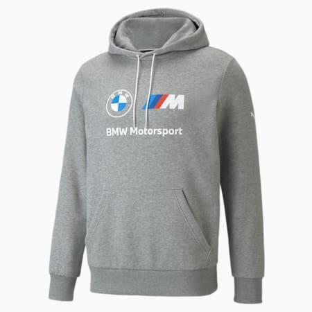 Sudadera con capucha de polar BMW M Motorsport Essentials para hombre, Medium Gray Heather, pequeño