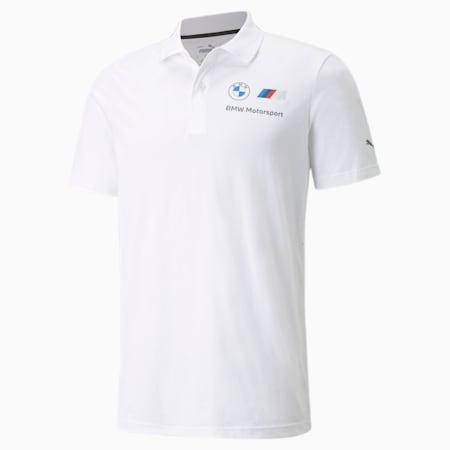 BMW M Motorsport Essentials Men's Polo Shirt, Puma White, small-SEA