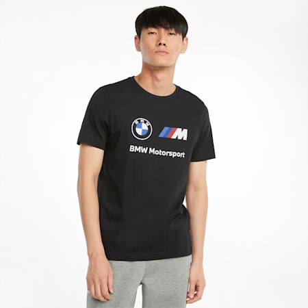 BMW M Motorsport Essentials Logo Men's Tee, Puma Black, small-GBR
