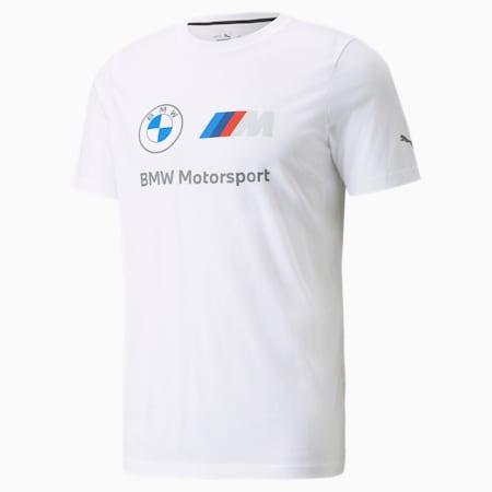 BMW M Motorsport Essentials Logo Men's Tee, Puma White, small-SEA