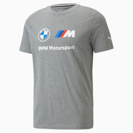 Camiseta con logo BMW M Motorsport Essentials para hombre, Medium Gray Heather, pequeño