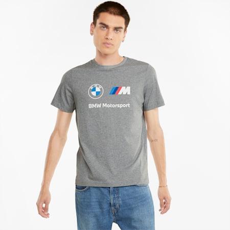 BMW M Motorsport Essentials Herren-T-Shirt mit Logo, Medium Gray Heather, small