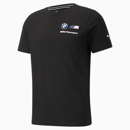 BMW M Motorsport Essentials Small Logo Men's Tee, Puma Black, small-SEA