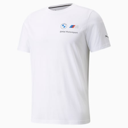 BMW M Motorsport Essentials Small Logo Men's Tee, Puma White, small-SEA