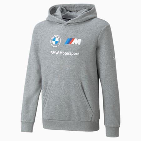 Kangourou essentiel à logo BMW M Motorsport, enfant, Gris bruyère moyen, petit