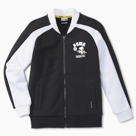 Chaqueta deportiva T7 PUMA x PEANUTS para niños, Puma Black, pequeño