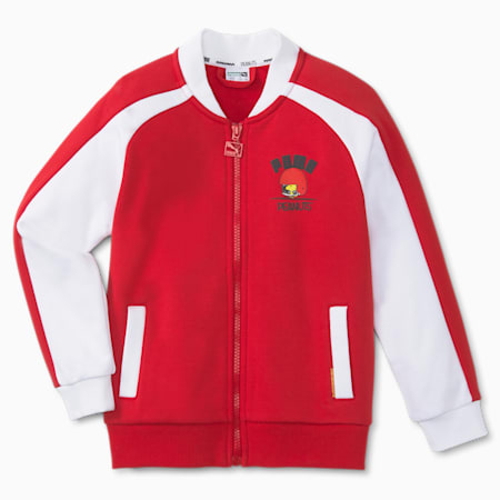 PUMA x PEANUTS Kids' Track Jacket, Urban Red, small-GBR