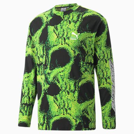 PUMA x SANTA CRUZ Langarm-Shirt mit Print, Puma Black, small