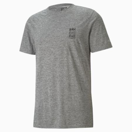 Camiseta de baloncesto de manga corta para hombre PUMA x BLACK FIVES, Medium Gray Heather, small