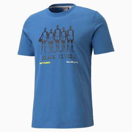 T-shirt de basketball à manches courtes PUMAxBLACK FIVES homme, Star Sapphire, small