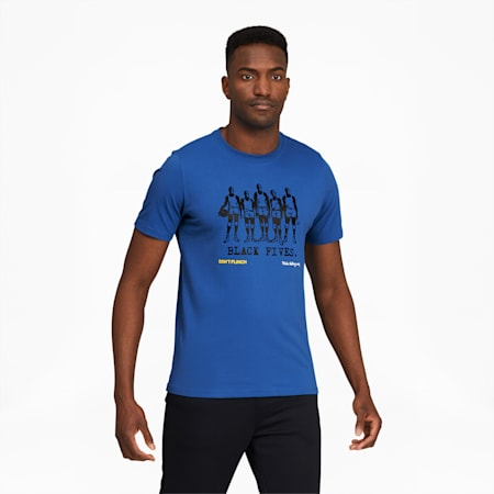 Camiseta de básquetbol de mangas cortasBlack Fivespara hombre, Star Sapphire, pequeño