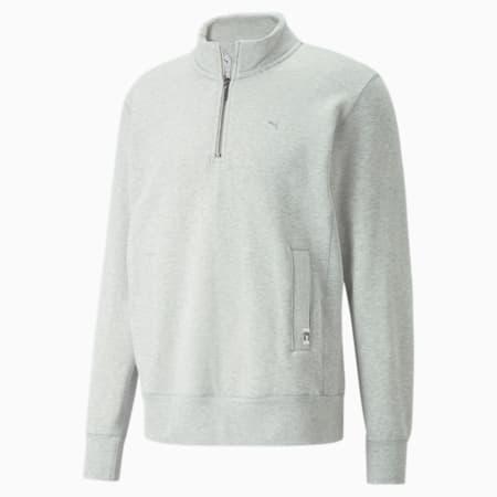 MMQ Mock Neck Sweater, Light Gray-Heather BC02, small