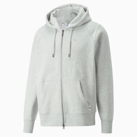 Sweat à capuche zippé MMQ, Light Gray-heather-BC02, small