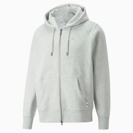 MMQ Full-Zip Hoodie, Light Gray-heather-BC02, small-GBR