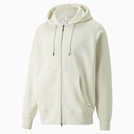 MMQ Full-Zip Hoodie, Ivory Glow, small