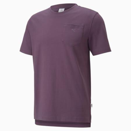 MMQ T-Shirt mit Tasche, Sweet Grape, small