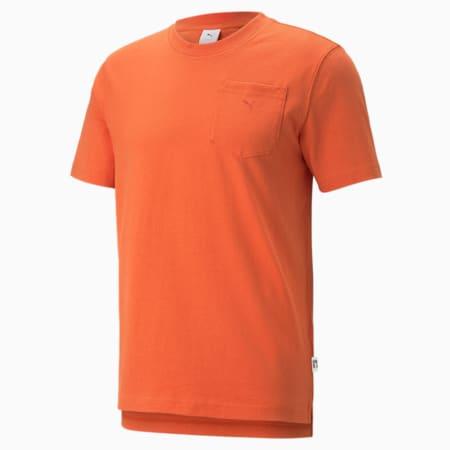 MMQ T-Shirt mit Tasche, Burnt Ochre, small